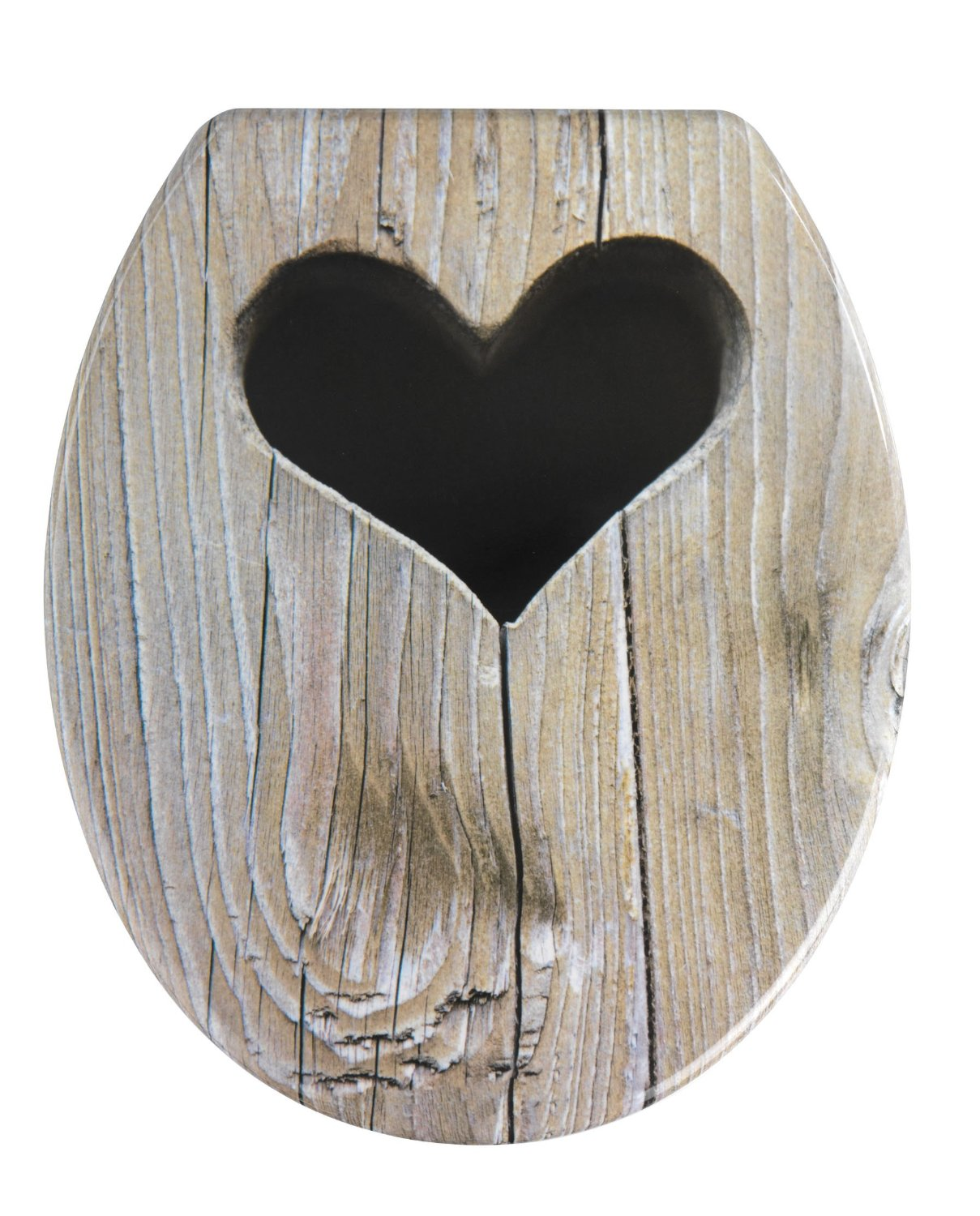 WC Deckel Heart Wood