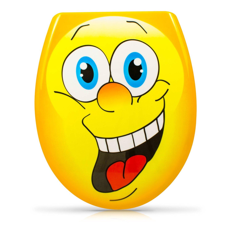 Lusitge WC Deckel: gelber Smiley