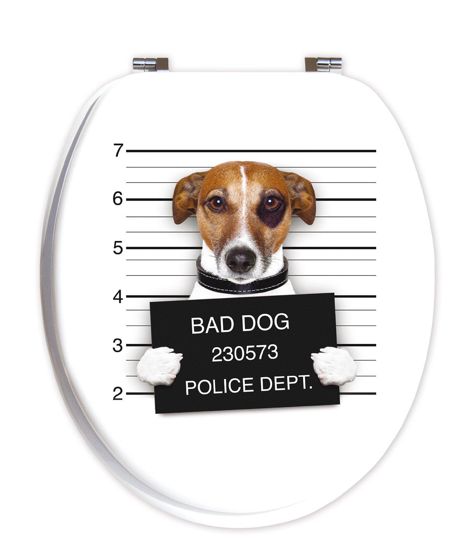 Lustige WC Deckel: Bad Dog