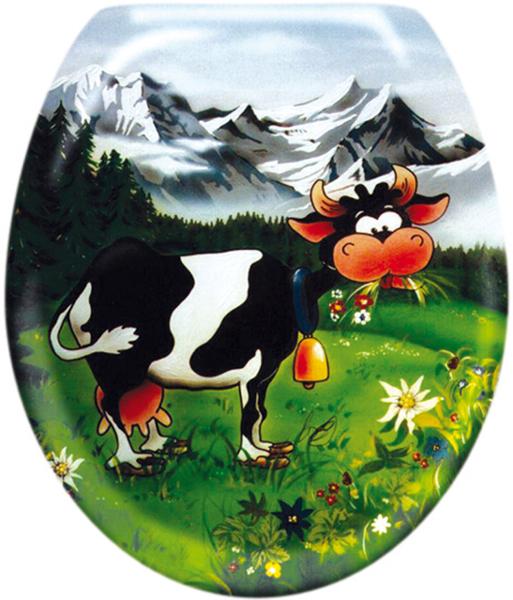 Lustige WC Deckel: Cow