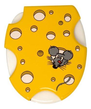 Lustiger WC Deckel: im Käse-Motiv